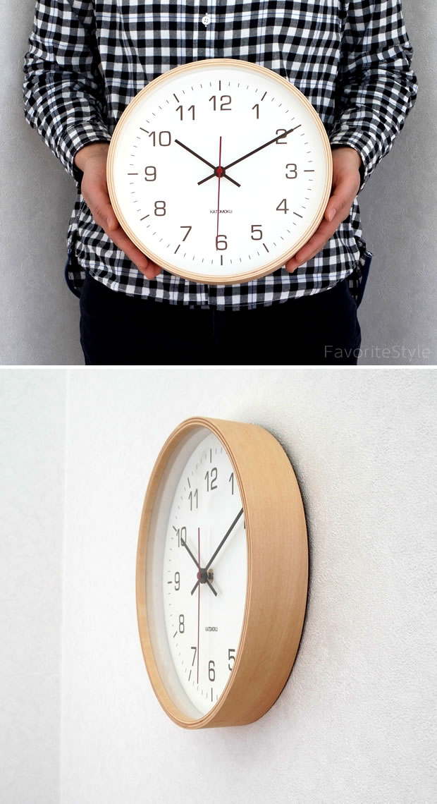 KATOMOKU plywood wall clock 4